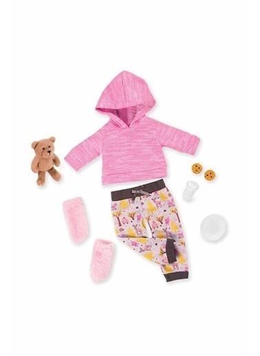 Our Generation Our Generation Oyuncak Bebek Kıyafeti Pijama Seti & Peluş Ayıcık Renkli
